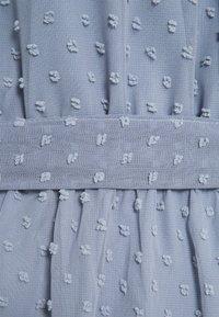 Missguided - TIE WAIST OPEN BACK DOBBY DRESS - Korte jurk - baby blue - 2