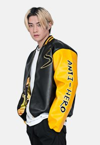 SEXFORSAINTS - ANTI-HERO VARSITY - Faux leather jacket - metallic black - 2