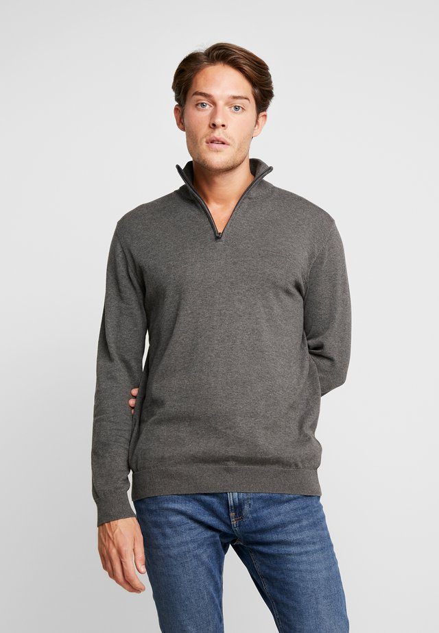 HALF ZIP - Strikkegenser - dark grey