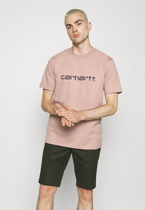 SCRIPT - T-shirt con stampa - earthy pink/black