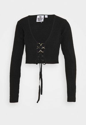 D RING UP - veste en sweat zippée - black