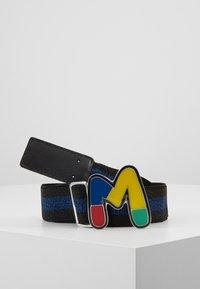 M Missoni - CINTURA ELASTICA NASTRO - Pásek - black/blue - 2