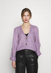 JDY - JDYDREA - Cardigan - lavender gray melange - 0