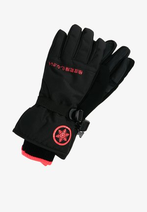 ULTIMATE SNOW SERVICE GLOVE - Guantes - black/hyper pink