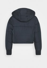 Topshop Petite - LUCY CROPPED HOODED PUFFER - Winter jacket - navy - 1