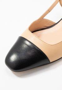 Jonak - DHAPOU - Slingback ballet pumps - noir/beige - 2