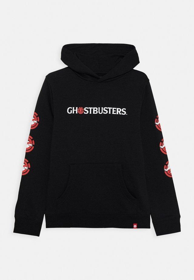 GHOSTBUSTERS X ELEMENT EIDOLON HOOD BOY - Bluza z kapturem - flint black