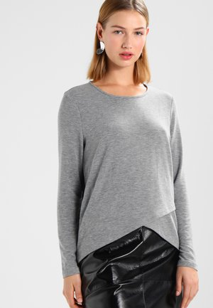 ONLSONJA MIDA WRAP - Long sleeved top - medium grey