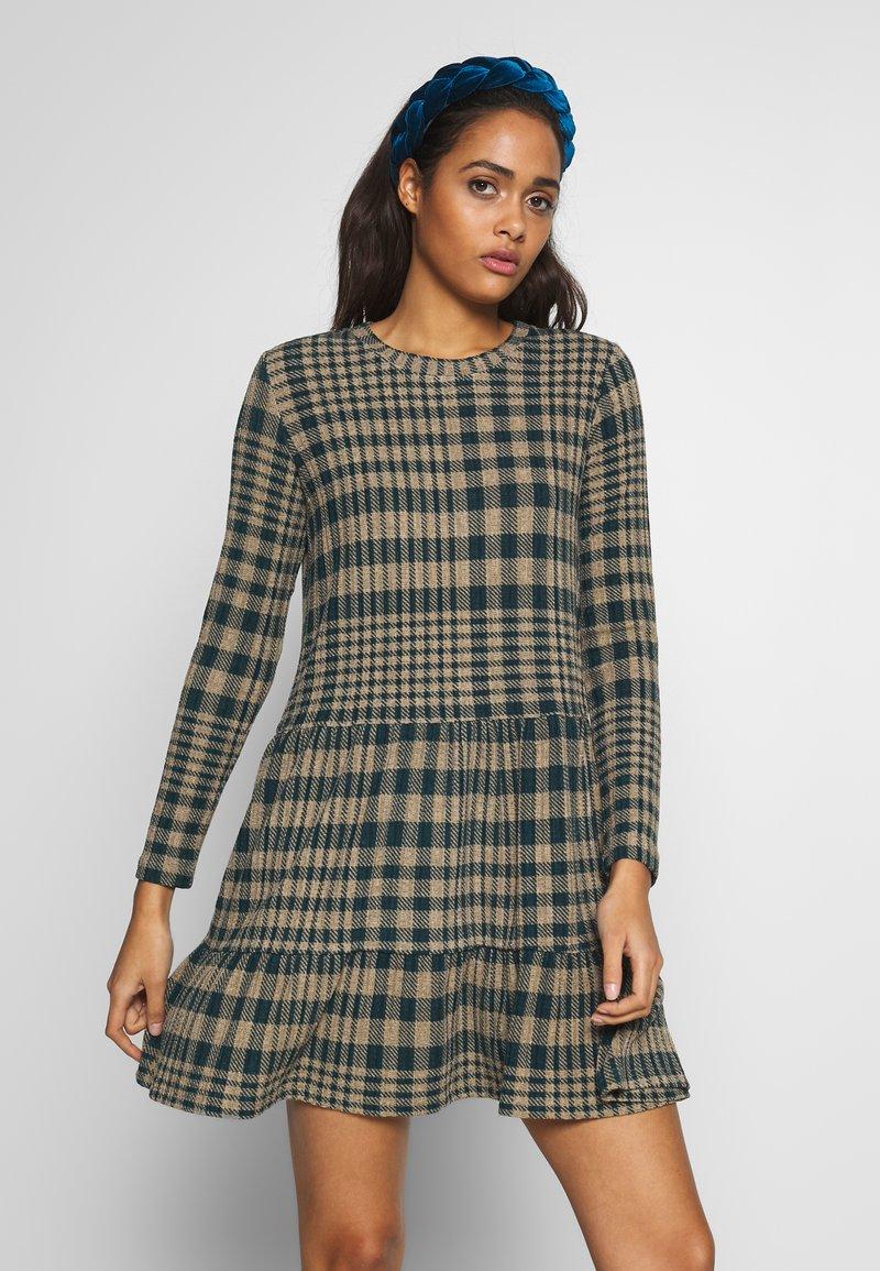 JDY - JDYBRIENNE DRESS - Robe pull - deep teal/travatine check