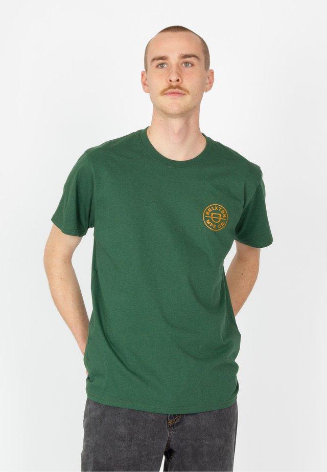 CREST X - T-shirt con stampa - hunter green