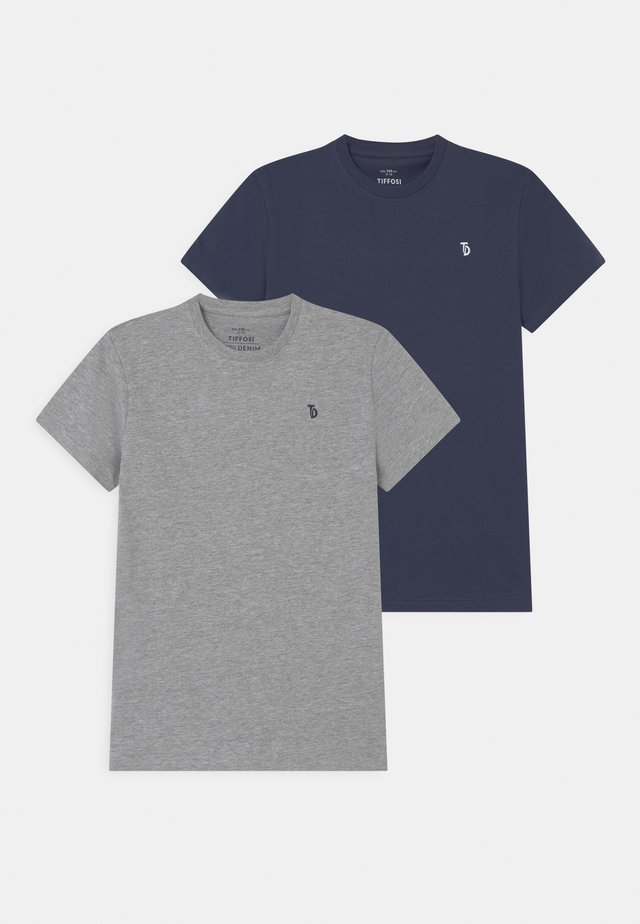 TOMIE 2 PACK - T-shirt basic - blue