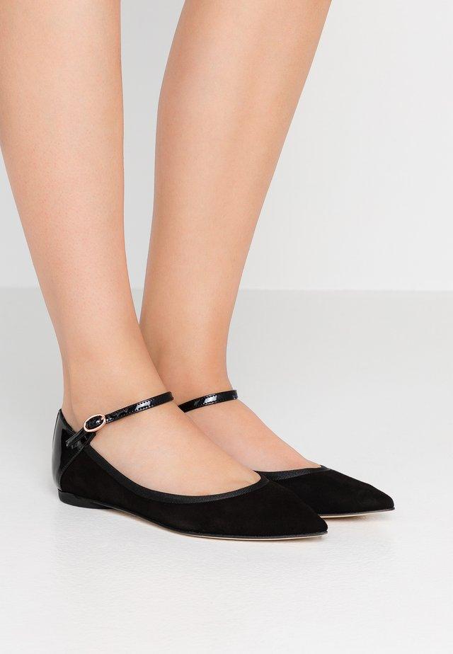 CLEMENCE - Ankle strap ballet pumps - noir