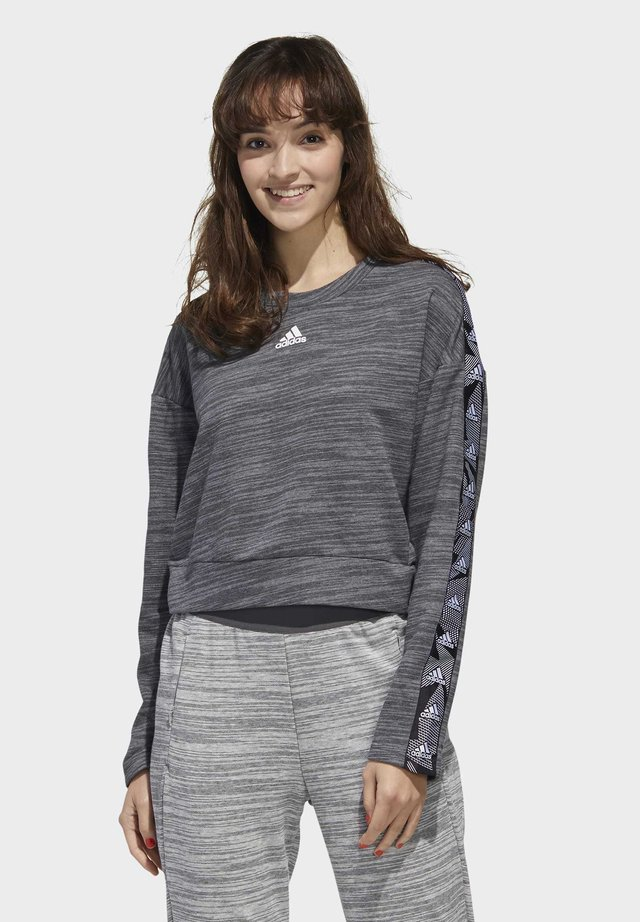 Sweater - dark grey heather/white
