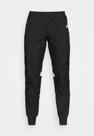 TRACK PANT - Tracksuit bottoms - black/halo silver/white