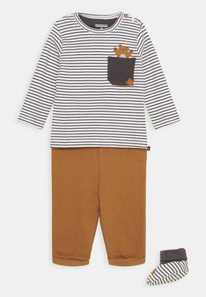 SET UNISEX - Trousers - grey/light brown