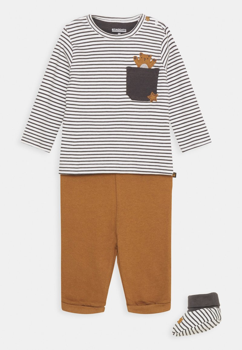 Staccato - SET UNISEX - Trousers - grey/light brown