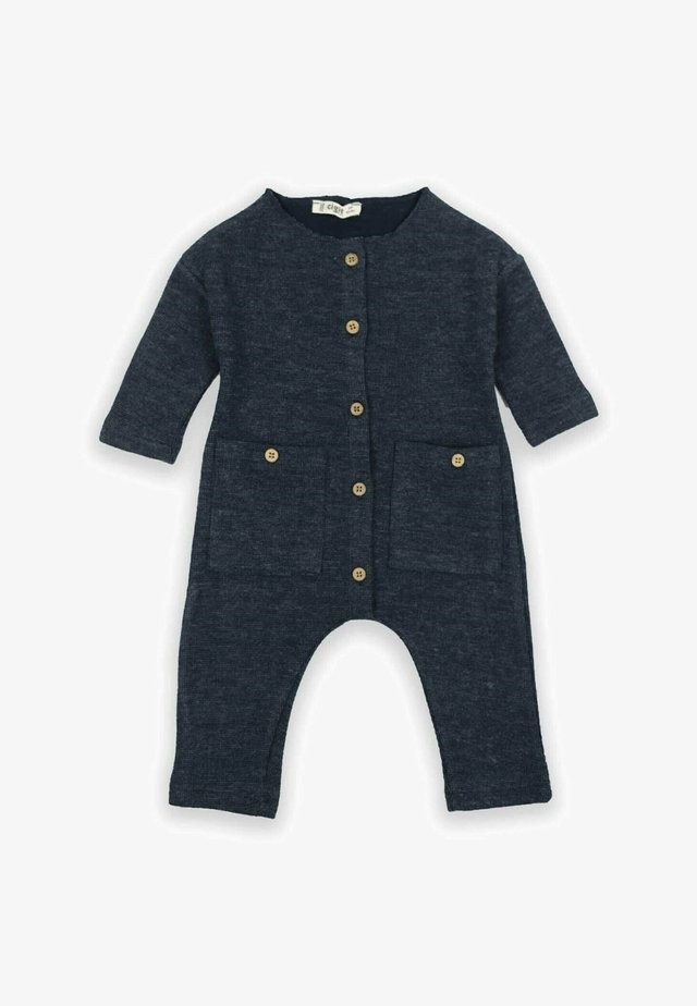 Buttoned Detailed Ottoman Romper (0 to 3 years) - Jumpsuit - navy blue