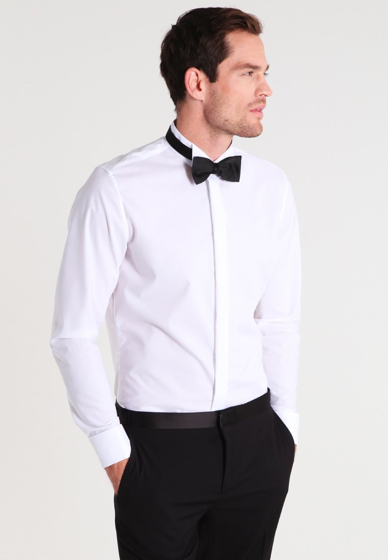 Seidensticker - SLIM FIT GERORGE SMOKING HEMD - Zakelijk overhemd - white