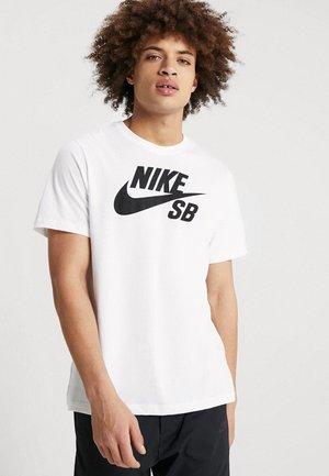 DRY TEE LOGO - Print T-shirt - white
