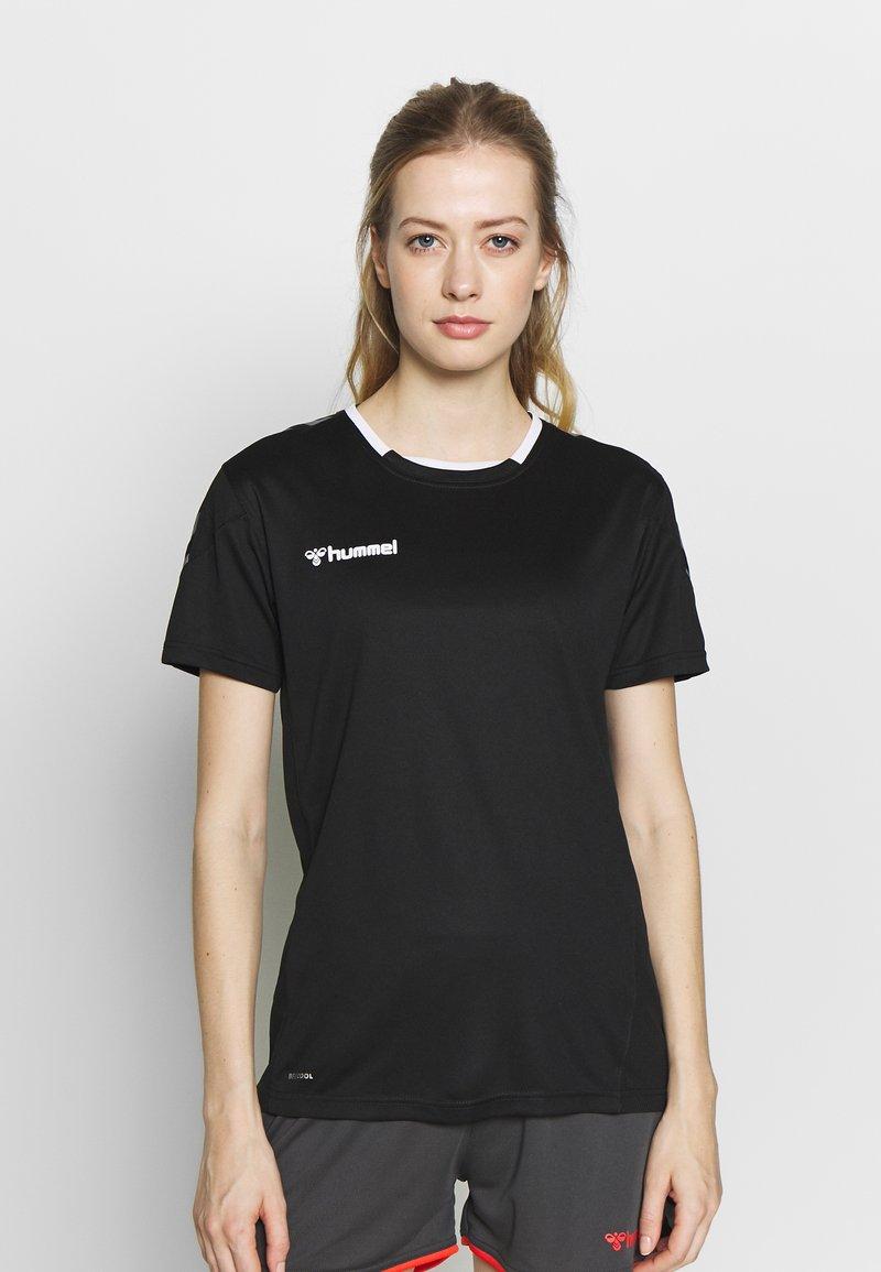 Hummel - HMLAUTHENTIC  - Print T-shirt - black/white