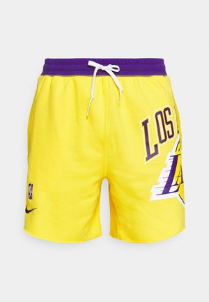 NBA LOS ANGELES LAKERS SHORT - Träningsshorts - amarillo/field purple/white