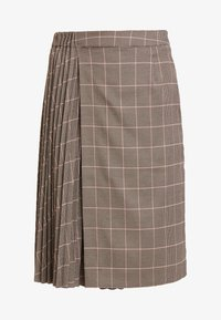 Apart - GLENCHECK PLISSEE SKIRT - A-line skirt - taupe/multicolor - 3