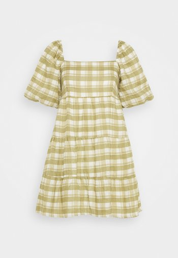 LEILANI MINI DRESS - Korte jurk - ligne/olive