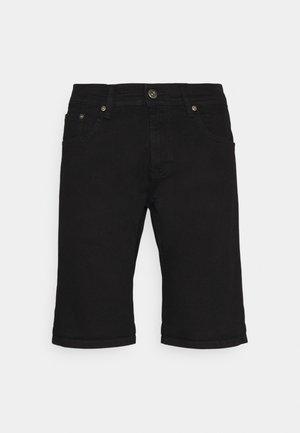 REGULAR FIT STRETCH - Jeansshorts - clean black