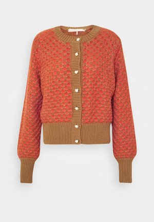 CATTIE - Cardigan - tobacco brown