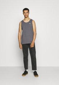 Nike Sportswear - CLUB TANK - Top - dark grey/white/black - 1