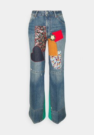 PATCHWORK FLARE - Jeans relaxed fit - vintage wash heavy