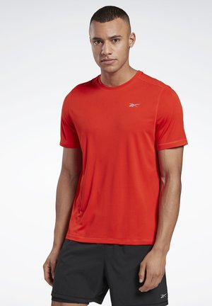NIGHT RUN SHIRT - Basic T-shirt - red