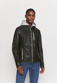 Gipsy - HALOW - Leather jacket - black - 0
