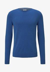 bright blue-melange