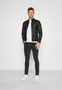 Selected Homme - SLHICONIC CLASSIC - Giacca di pelle - black - 1