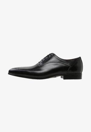 Elegantní šněrovací boty - ferrara nero