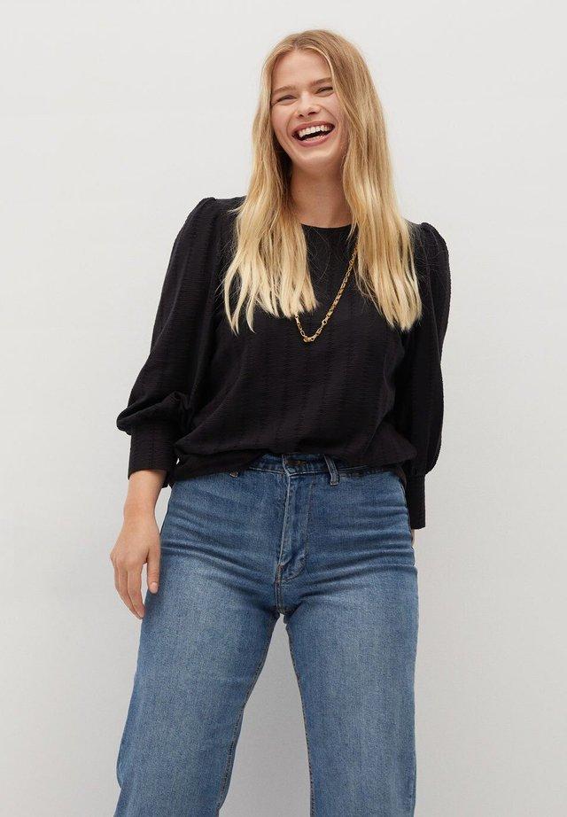 NINA - Long sleeved top - schwarz