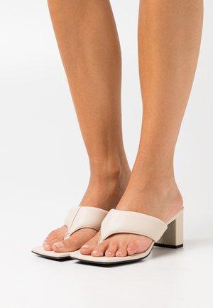 TASHA THONG HEEL - T-bar sandals - bone