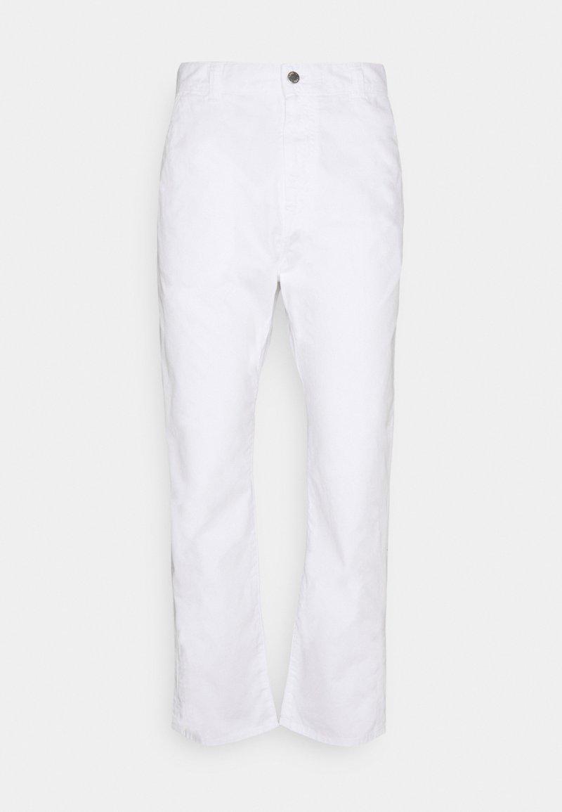 Edwin - UNIVERSE PANT CROPPED - Kangashousut - white