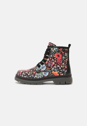 Lace-up ankle boots - black/multi