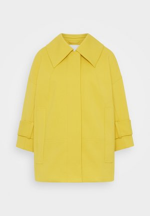 BOX CUT BRACELET SLEEVE RETRO COAT - Short coat - marigold