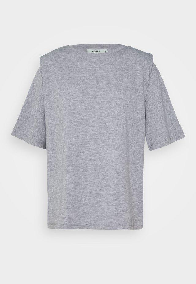 ISMA - Print T-shirt - grey melange