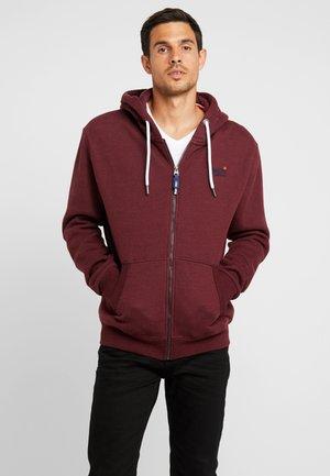 ORANGE LABEL CLASSIC ZIPHOOD - veste en sweat zippée - buck burgundy marl