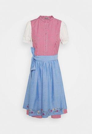 ONLELLY CHECK  DRESS - Dirndl - cloud dancer/red