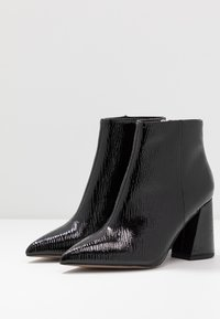 Topshop Wide Fit - WIDE FIT HACKNEY - Ankle boots - black - 4