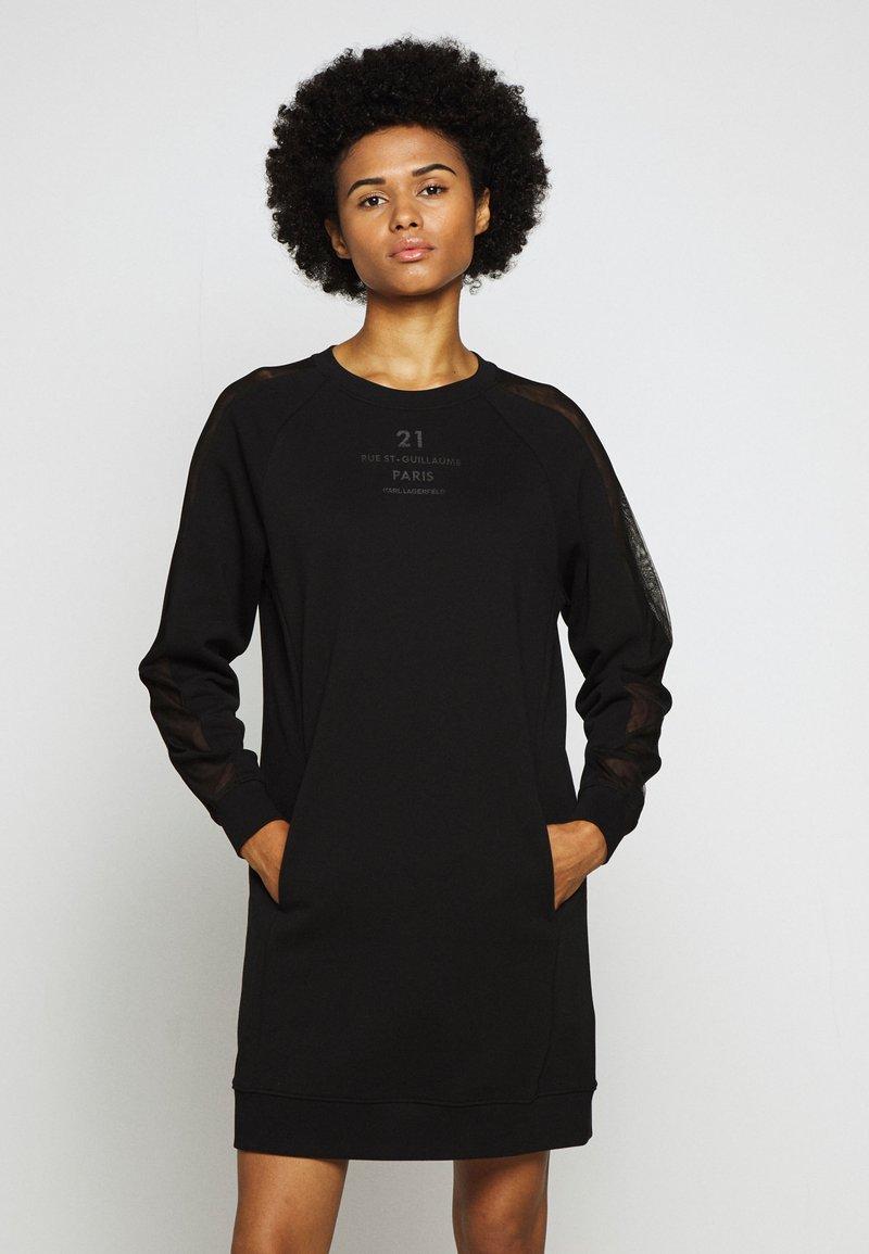 KARL LAGERFELD - DRESS - Freizeitkleid - black