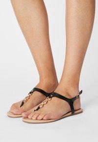 Anna Field Wide Fit - W-CIWI - T-bar sandals - black - 0