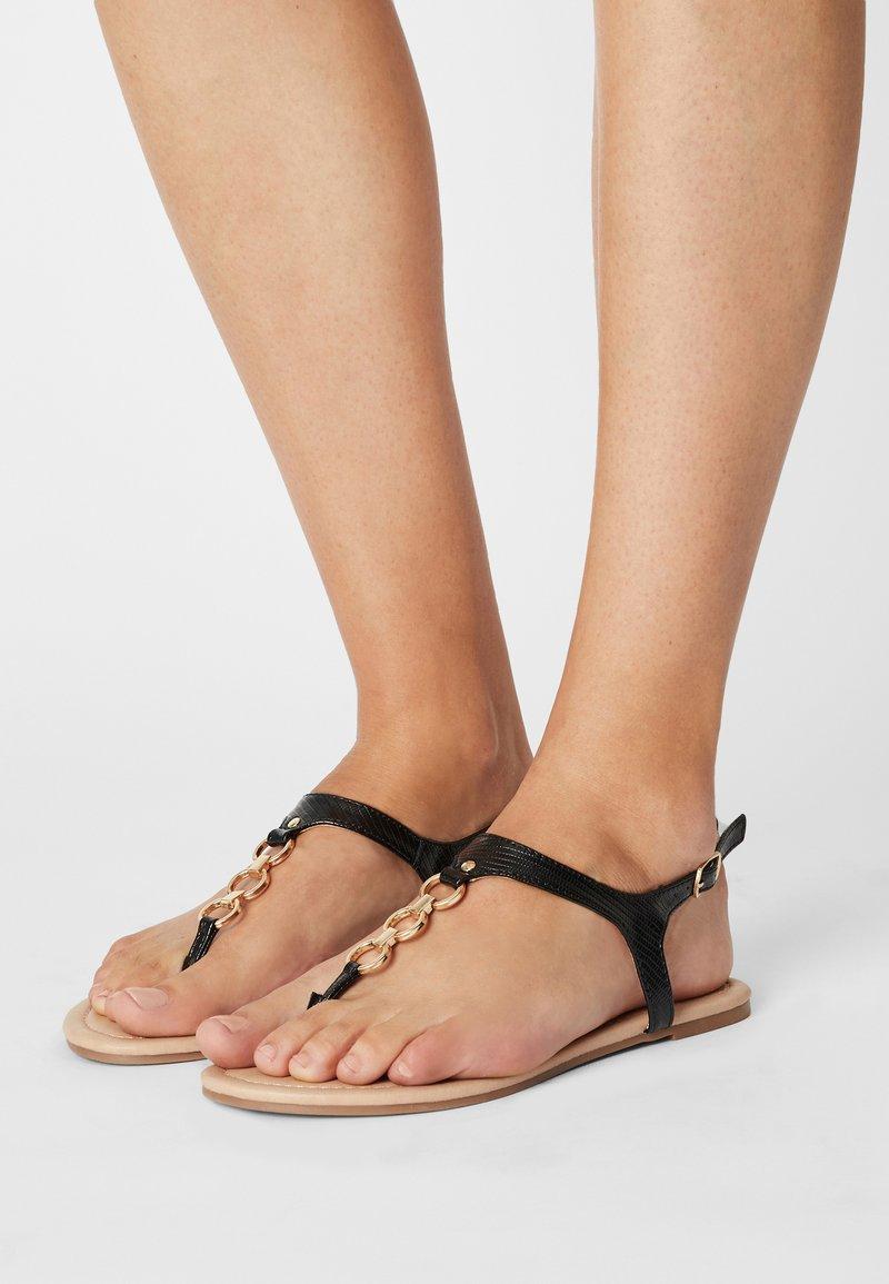 Anna Field Wide Fit - W-CIWI - T-bar sandals - black