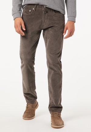 MODERN FIT - Trousers - dunkelbraun