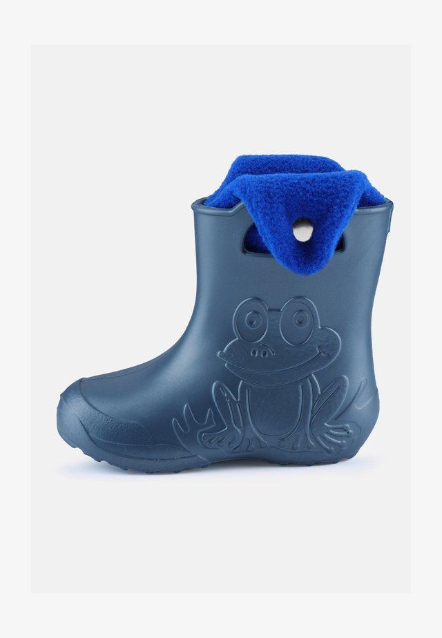 Regenlaarzen - metallic blue, blue